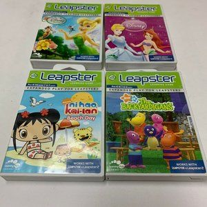 Lot of 4 Leap Frog Leapster Learning Games Disney